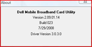 Dell Mobile Broadband Card Utility Version